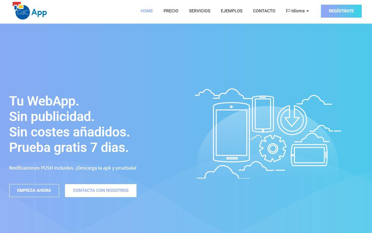GdCApp convierte Web en App
