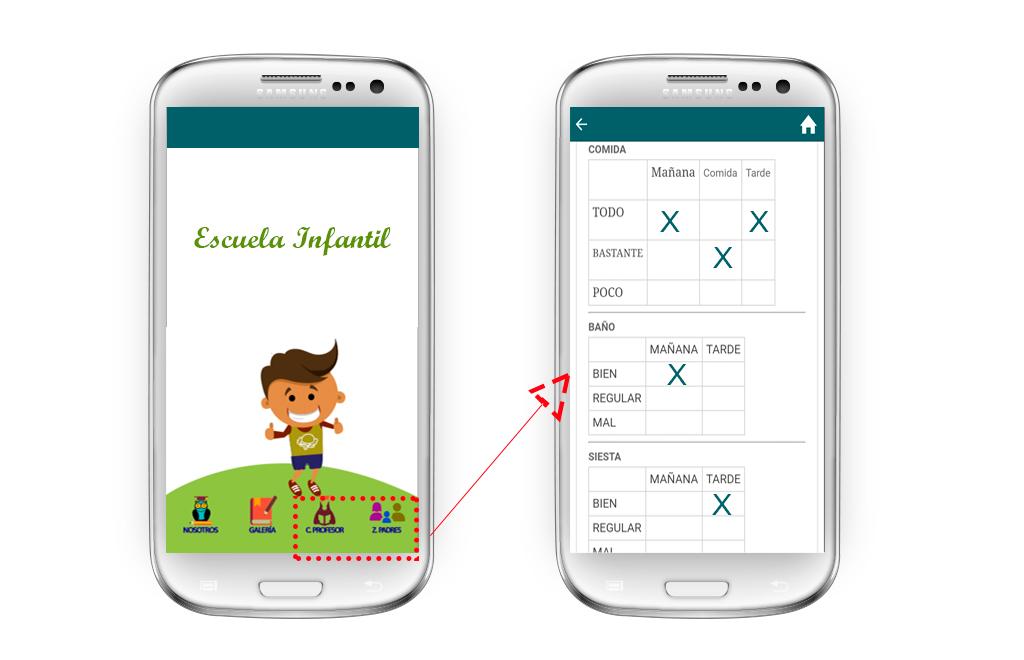zona privada app escuela infantil