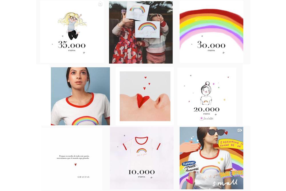 Campaña en Instagram de camiseta de Lucia Be